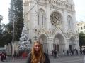 Míša před Notre Dame