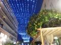 Mandarinky pod vánočními světýlky