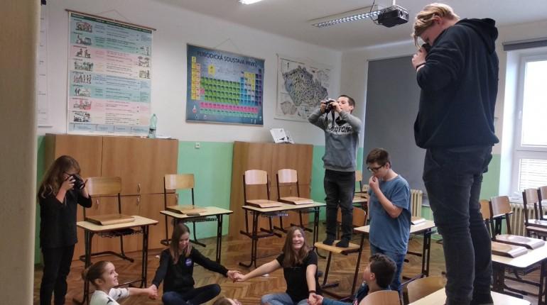 fotografování ve školním klubu